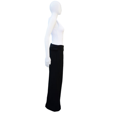 DOLCE & GABBANA TUXEDO WIDE-LEG PANTS Shop the best value on authentic designer resale consignment on Leef Luxury.