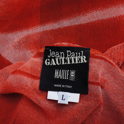 JEAN PAUL GAULTIER PRINTED MESH TOP on Leef luxury authentic designer resale consignment