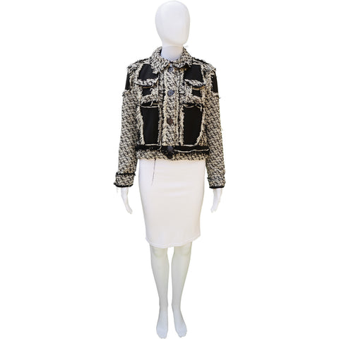 LANVIN 2016 FRINGE-TRIMMED JACKET Shop the best value on authentic designer used preowned consignment on Leef Luxury