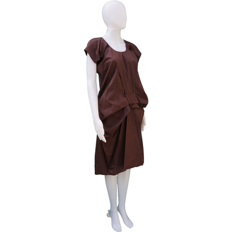 MARNI GATHERED COTTON DRESS on Leef luxury authentic designer consignment