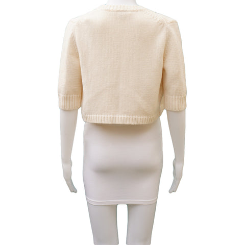 MICHAEL KORS CABLE KNIT OPEN FRONT SHRUG - leefluxury.com