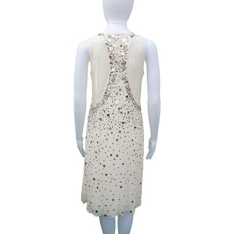 LITA MORTARI SILK SEQUIN COCKTAIL DRESS - leefluxury.com