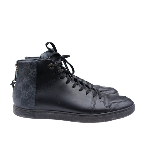LOUIS VUITTON DAMIER LINE UP SNEAKER HIGH TOP SNEAKER - leefluxury.com