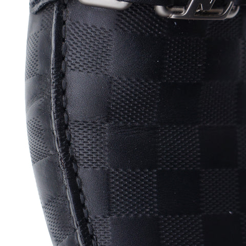 LOUIS VUITTON DAMIER HOCKENHEIM MOCCASIN INITIALS DRIVING LOAFER - leefluxury.com