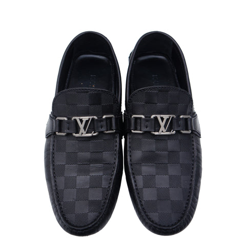 LOUIS VUITTON DAMIER HOCKENHEIM MOCCASIN INITIALS DRIVING LOAFER