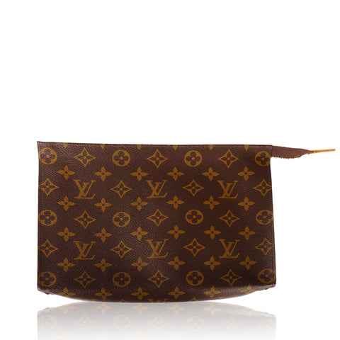 LOUIS VUITTON MONGORAM TOILETRY POUCH 26 CLUTCH BAG  Shop online the best value on authentic designer used resale preowned consignment Toronto on Leef Luxury.