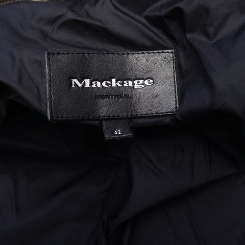MACKAGE OLIVE GREEN DETACHABLE FUR TRIM PARKA PUFFER COAT