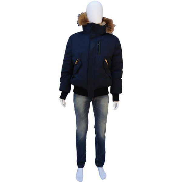 MACKAGE DIXON DOWN BOMBER PUFFER JACKET WITH REMOVABLE HOOD AND BIB