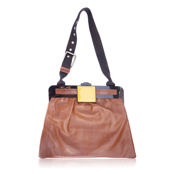 MARNI LEATHER FRAME SHOULDER BAG
