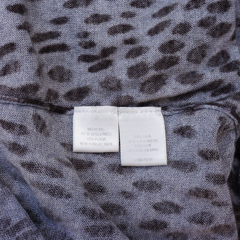 REBECCA TAYLOR ANIMAL PRINT CASHMERE BLEND OPEN KNIT CARDIGAN - leefluxury.com