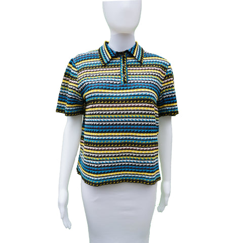 MISSONI POLO STYLE BOXY KNIT TOP