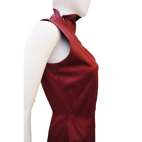 MISURA BURGUNDY STRETCH DRESSS  Shop online the best value on authentic designer used preowned consignment on Leef Luxury.