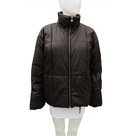 MONDI BLACK PUFFER COAT - leefluxury.com