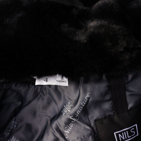 NILS IRIDESCENT FUR SKI JACKET COAT - leefluxury.com