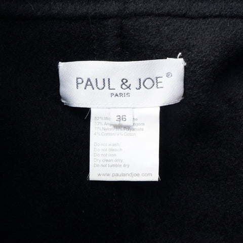 PAUL & JOE WOOL BLEND ROBE STYLE BELTED COAT - leefluxury.com
