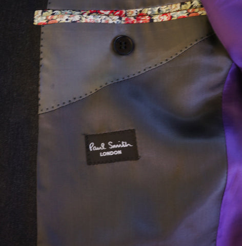 PAUL SMITH CHARCOAL THE BYARD WOOL BLAZER Shop online the best value on authentic designer used preowned consignment on Leef Luxury.
