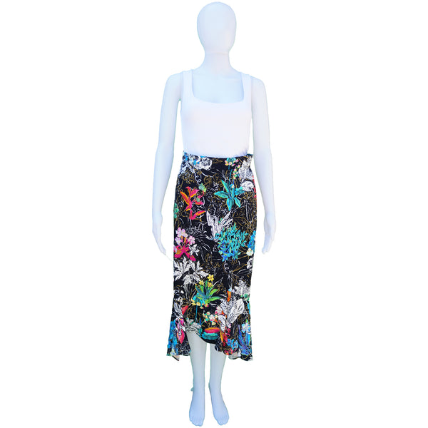 PETER PILOTTO FLORAL MIDI  FLARE SKIRT
