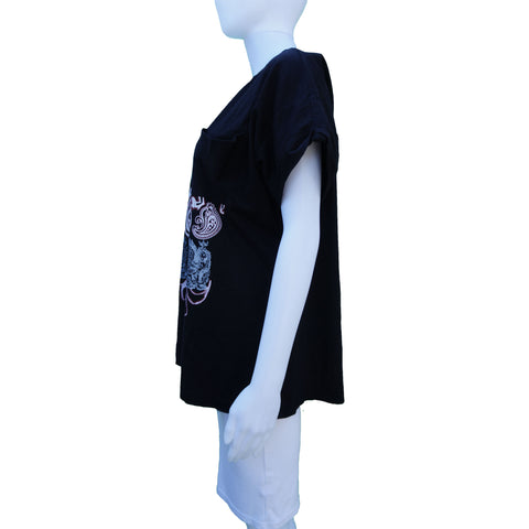 PIERRE BALMAIN GRAPHIC OVERSIZED TEE TSHIRT TOP - leefluxury.com