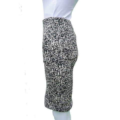 PINKO ABSTRACT CAMO PATTERN PENCIL SKIRT - leefluxury.com