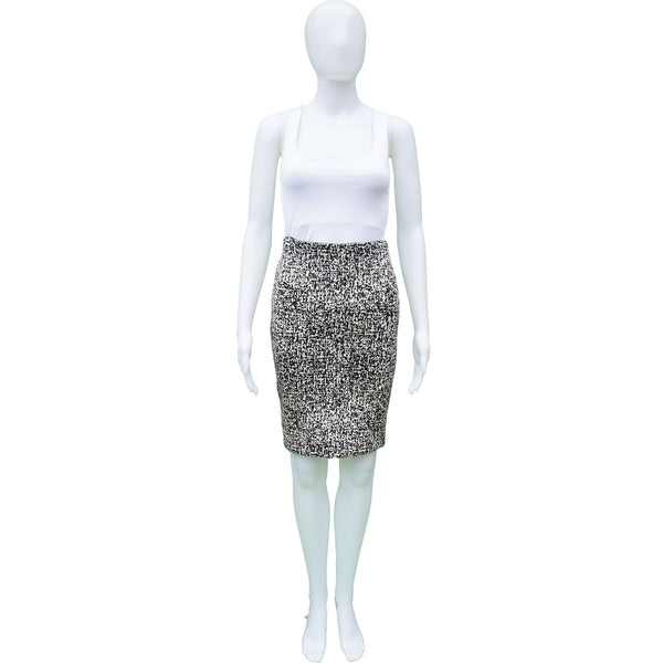 PINKO ABSTRACT CAMO PATTERN PENCIL SKIRT
