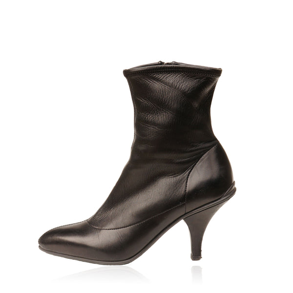 PRADA CALZATURE DONNA LEATHER ANKLE BOOT
