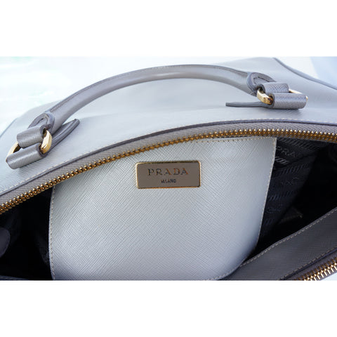 PRADA SAFFIANO LUX LEATHER SHOULDER BAG - leefluxury.com