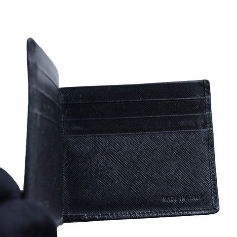 PRADA SAFFIANO BIFOLD LEATHER WALLET - leefluxury.com