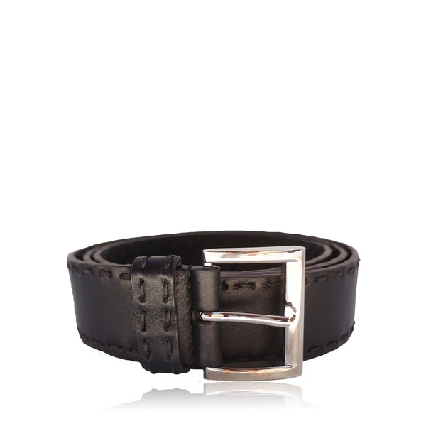PRADA BLACK LEATHER WAIST BELT