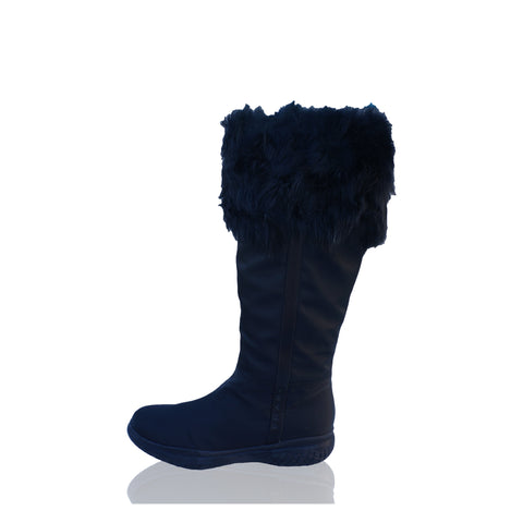 PRADA SHEARLING NYLON & RUBBER BOOTS NEW WITH TAGS - leefluxury.com