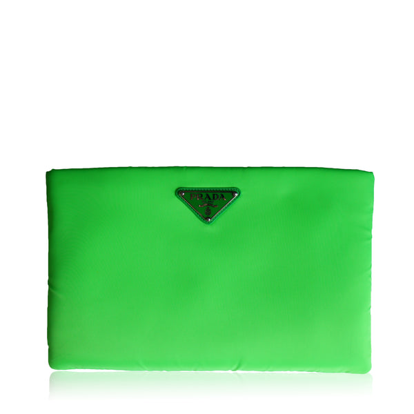 PRADA NEON TESSUTO CONVERTIBLE CLUTCH SHOULDER BAG