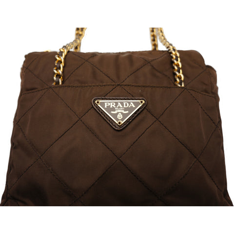 PRADA TESSUTO CROSSBODY BAG Shop online the best value on authentic designer used preowned consignment on Leef Luxury.