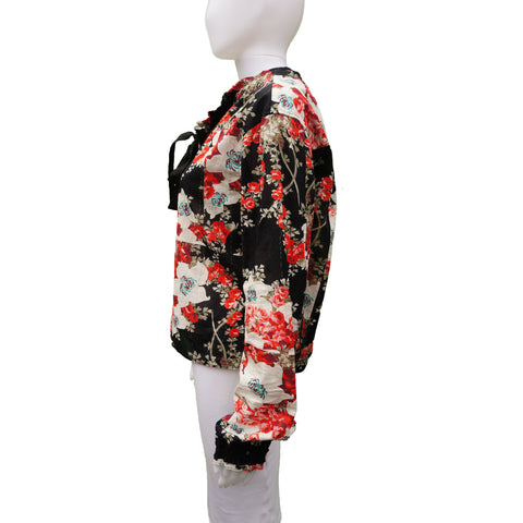 RAG & BONE FLORAL BLOUSE  TOP - leefluxury.com