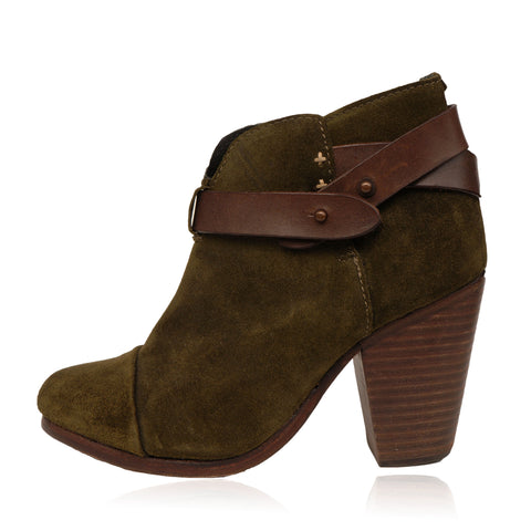 RAG & BONE HARROW SUEDE  ROUND TOE ANKLE BOOTS - leefluxury.com