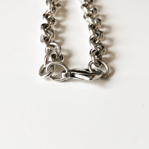 TIFFANY & CO. STERLING SILVER TAG BRACELET - leefluxury.com
