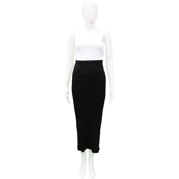 2018 RICK OWENS MAXI TUBE KNIT SKIRT