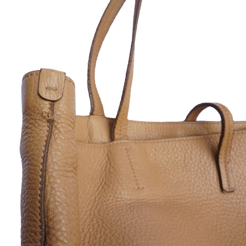 SALVATORE FERRAGAMO LEATHER SHOPPING TRAVEL TOTE BAG - leefluxury.com