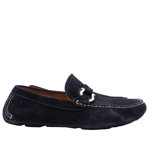 SALVATORE FERRAGAMO SUEDE GANCINI DRIVING LOAFER