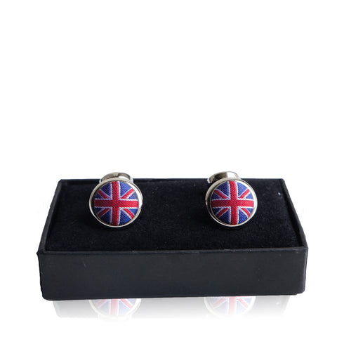 THOMAS PINK UNION JACK CUFFLINKS Shop online the best value on authentic designer used preowned consignment on Leef Luxury.
