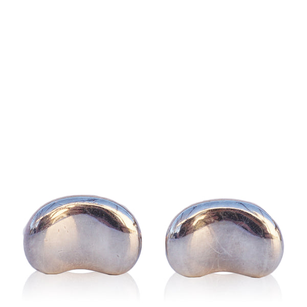 TIFFANY & CO ELSA PERETTI BEAN STERLING SILVER CUFFLINKS