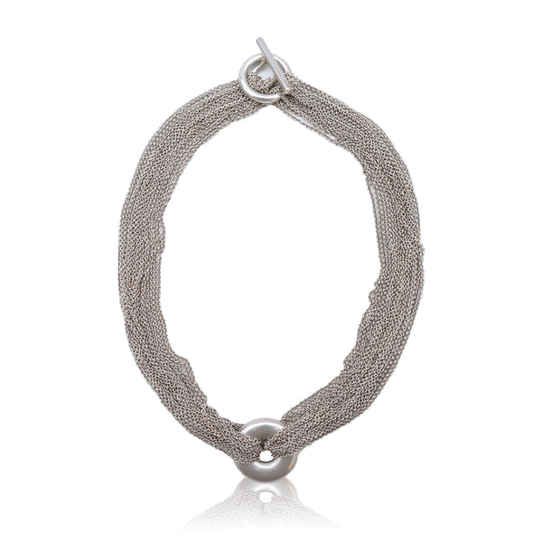 TIFFANY & CO. STERLING SILVER MESH CIRCLE NECKLACE