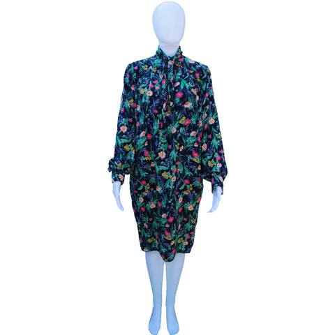 UNGARO VINTAGE FLORAL DRESS - leefluxury.com