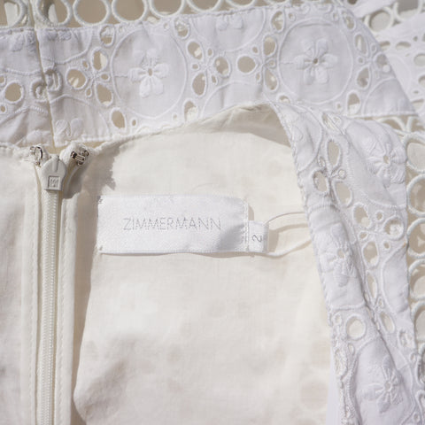 ZIMMERMAN DIVINITY WHEEL EYELET DAY DRESS - leefluxury.com