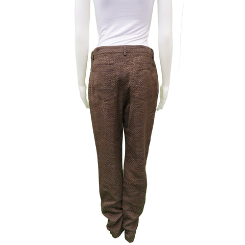CHANEL COTTON TWEED STRAIGHT LEG PANT  Shop online the best value on authentic designer used preowned consignment on Leef Luxury.