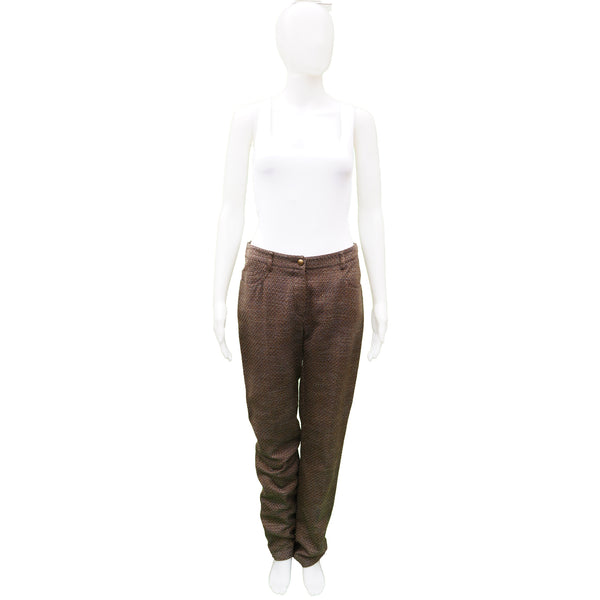 CHANEL COTTON TWEED STRAIGHT LEG PANT