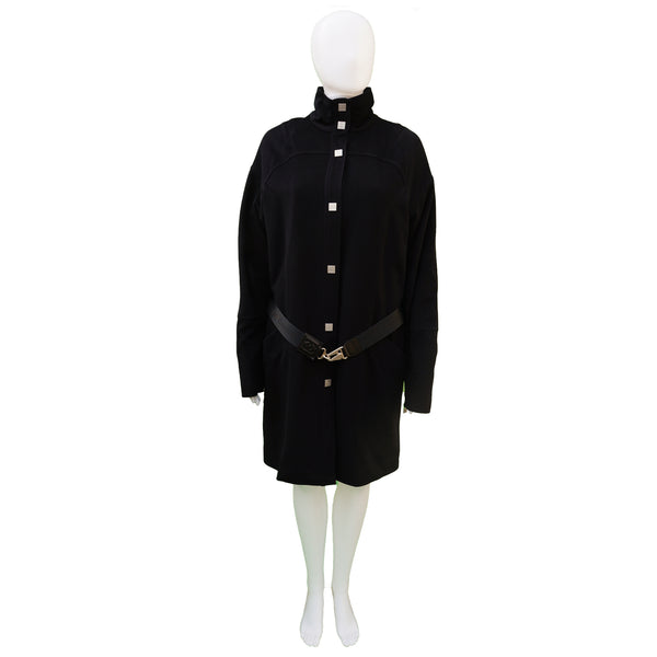 CHANEL WOOL COAT WITH QUILTED LINING COAT