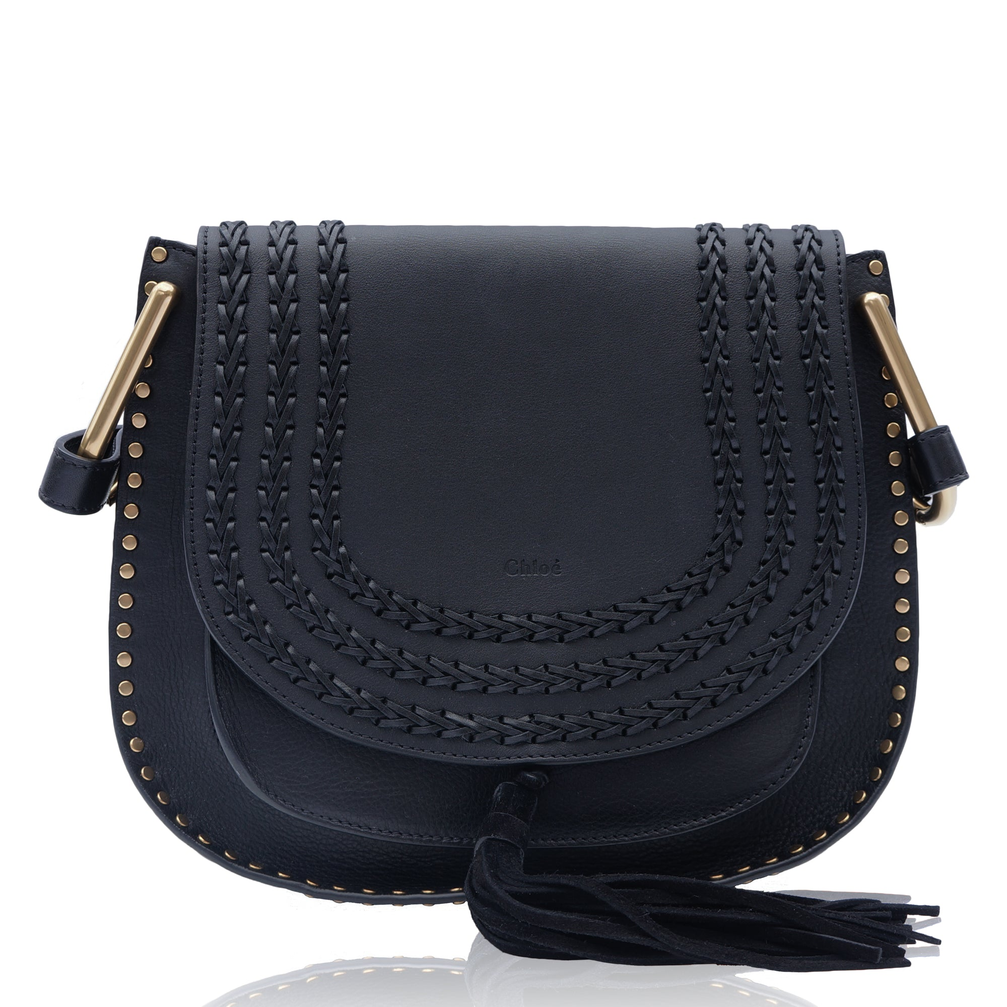 5c872825a3ae CHLOE HUDSON BLACK LEATHER SHOULDER CROSSBODY BAG Shop online the best  value on authentic designer used ...