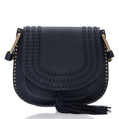 CHLOE HUDSON BLACK LEATHER SHOULDER CROSSBODY BAG - leefluxury.com
