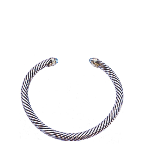 DAVID YURMAN BLUE TOPAZ CABLE CLASSIC BRACELET