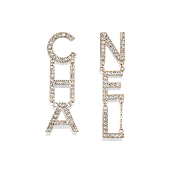 CHANEL 2019 RUNWAY STRASS EARRINGS