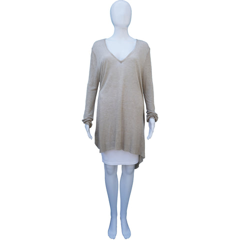 ANN DEMEULEMEESTER OVERSIZE LONG SLEEVE VNECK TUNIC TOP  Shop the best value on authentic designer resale consignment on Leef Luxury.
